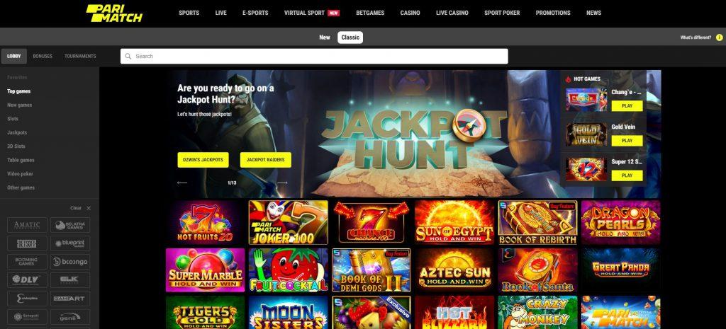 Classic PariMatch online casino