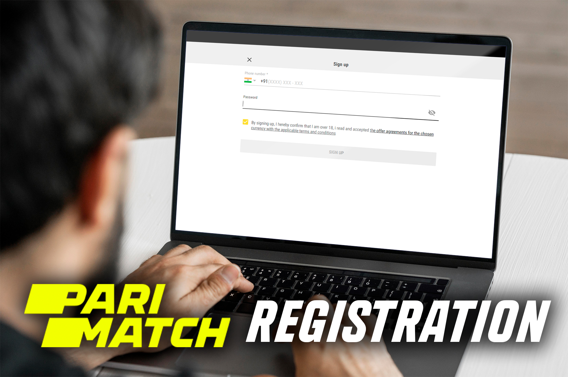 Complete a simple registration in a few steps to start betting on sporting events.