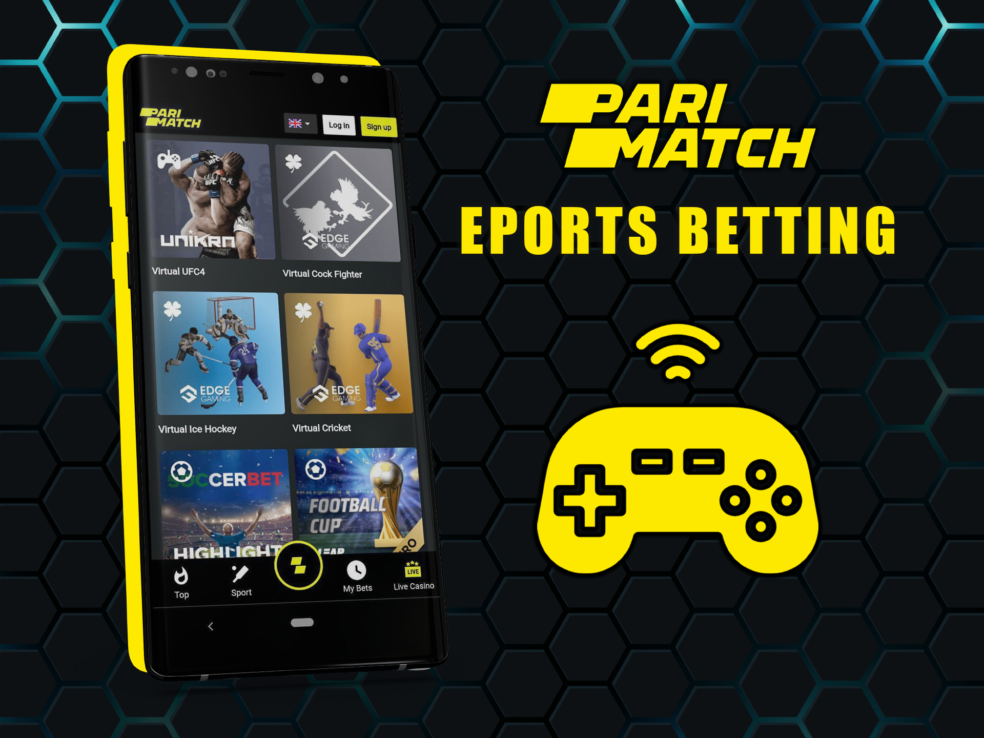 Esports matches are also a popular section for betting.