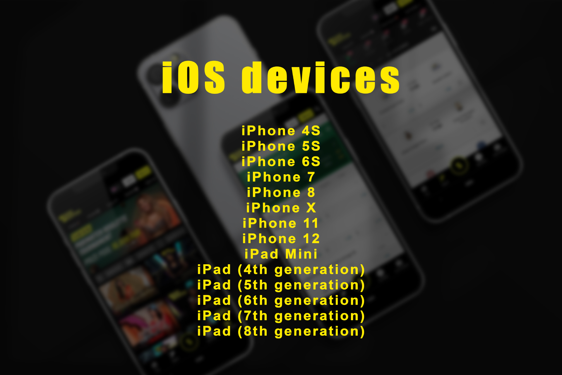 Here is a list of iOS devices on that the Parimatch app can be installed.