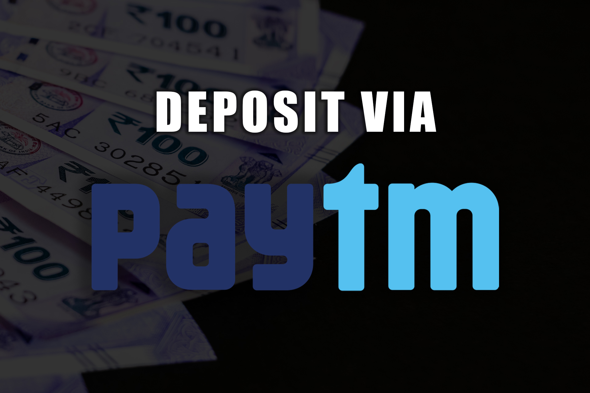 If you have an account at PayTM you can use it for depositing on Parimatch.