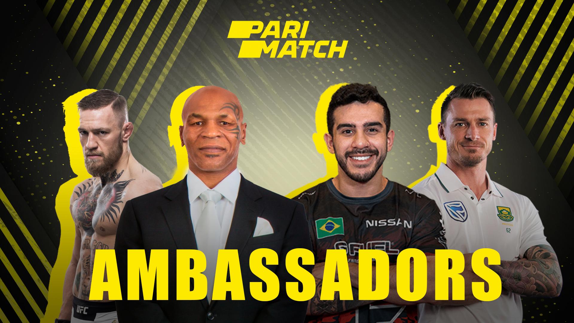Famous sportsmen support Parimatch.