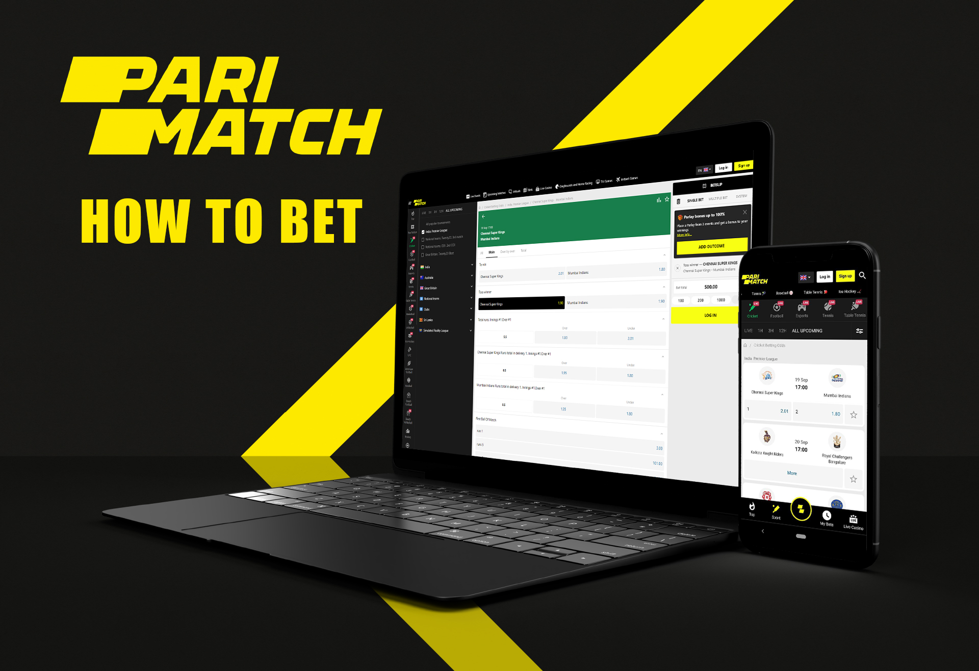 Both website and mobile apps are available for betting anytime and anywhere.