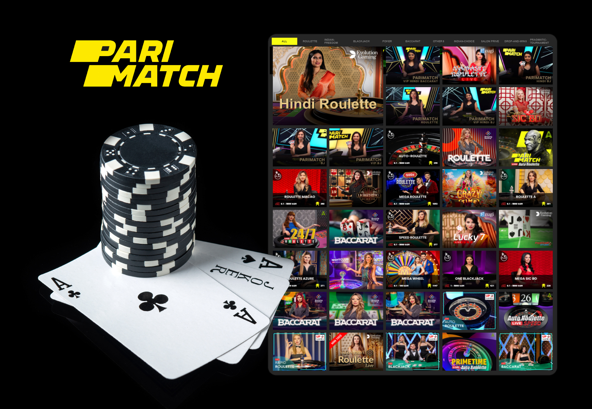 If you also like playing games, visit the section of Parimatch Casino.