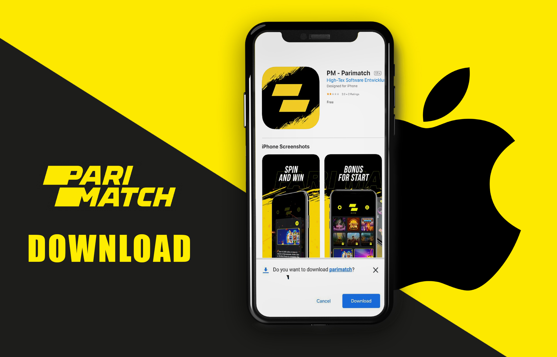 Download the app from the App Store.