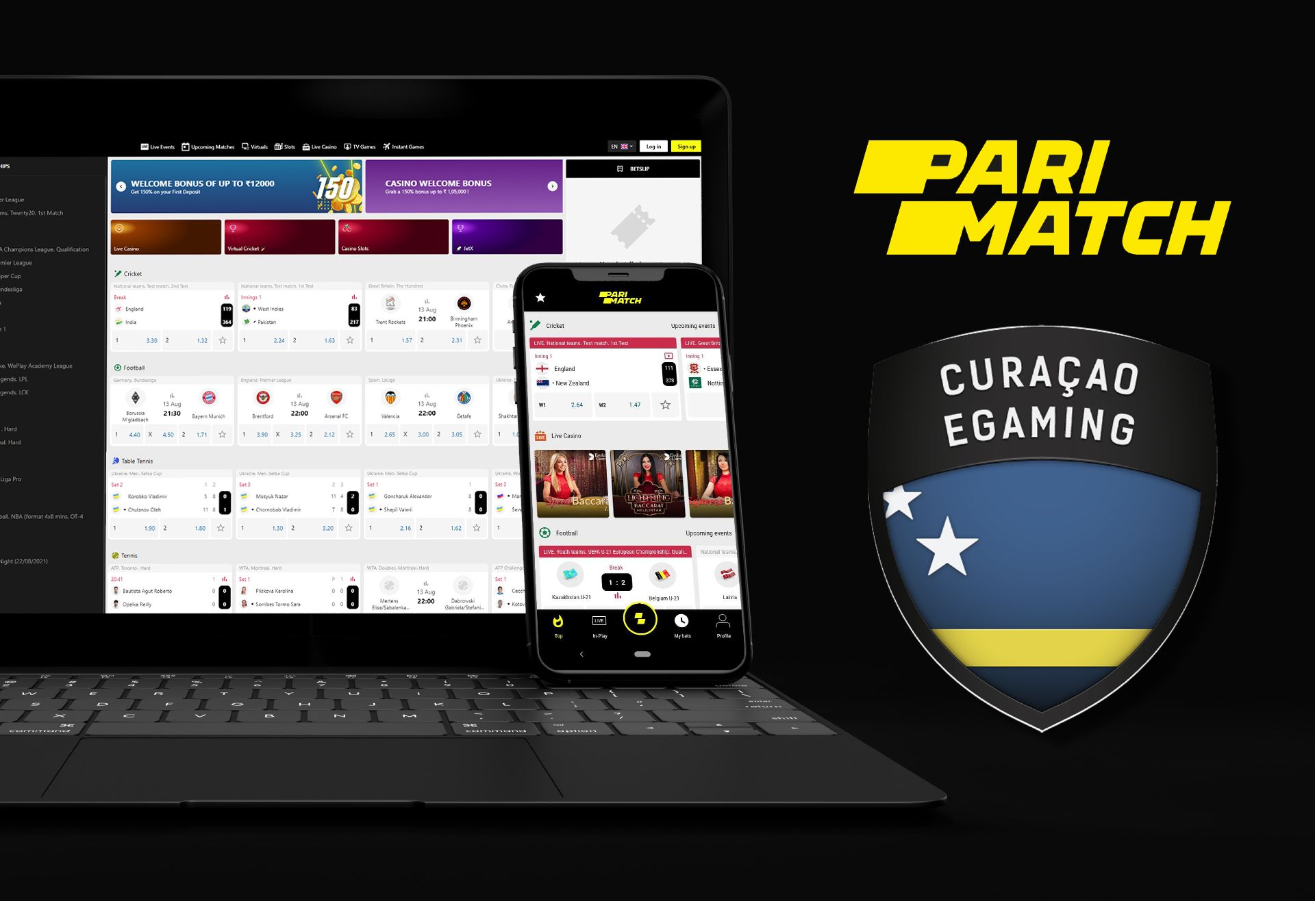 Parimatch works legally under the Curacao license, so it is safe for users to place bets here.