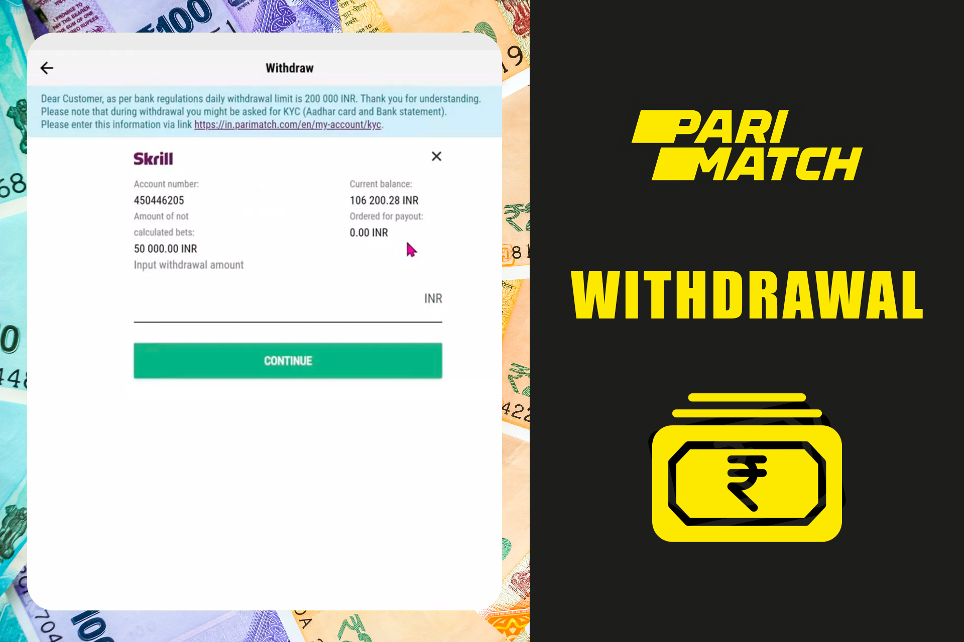 After you win you can withdraw funds to the bank card or e-wallet.