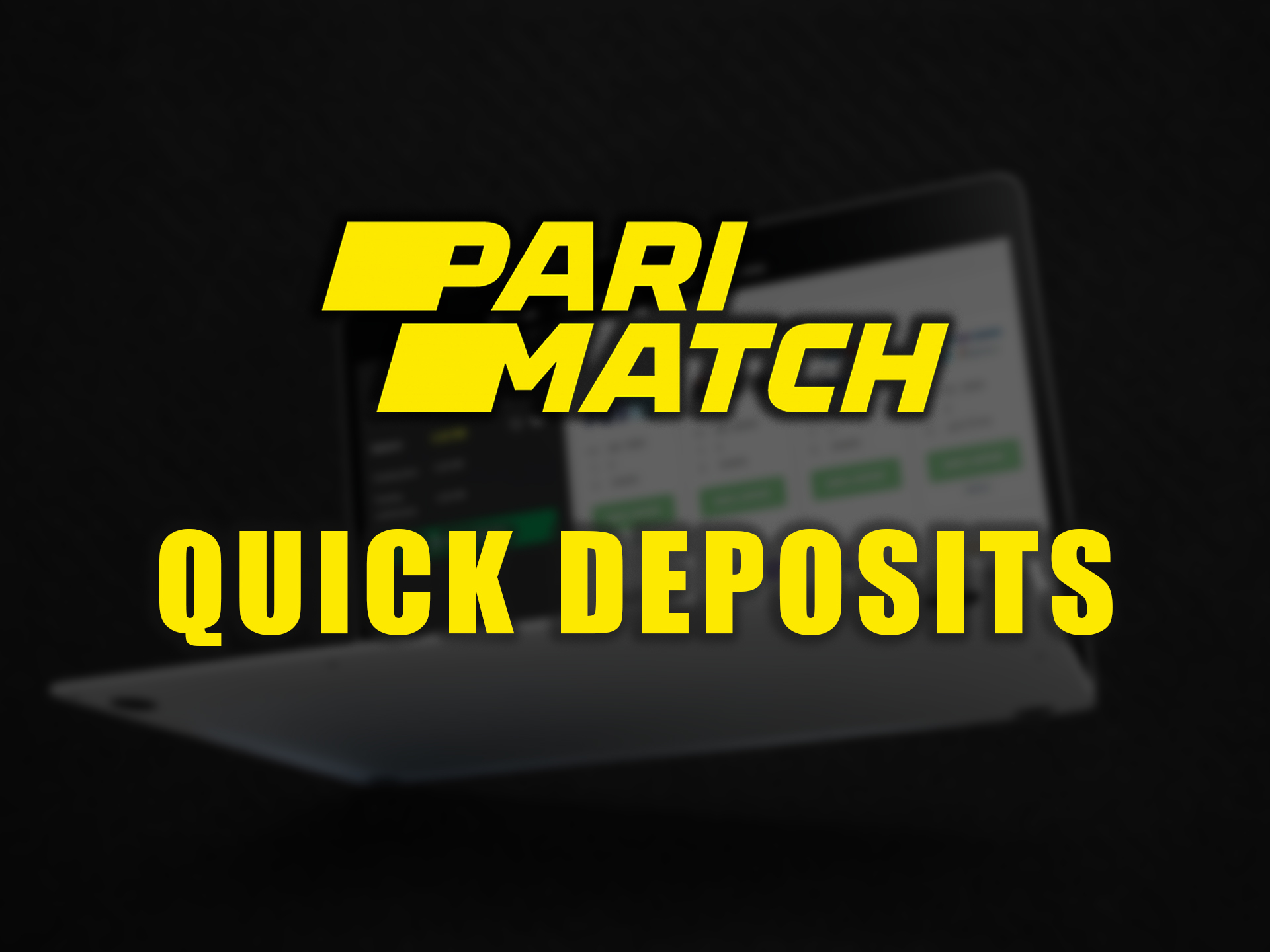 Quick deposits are a convenient option for users.